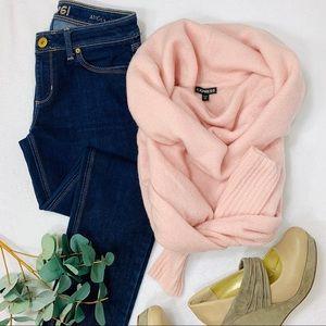 Express Plush Cowl Neck Sweater Ballet Pink